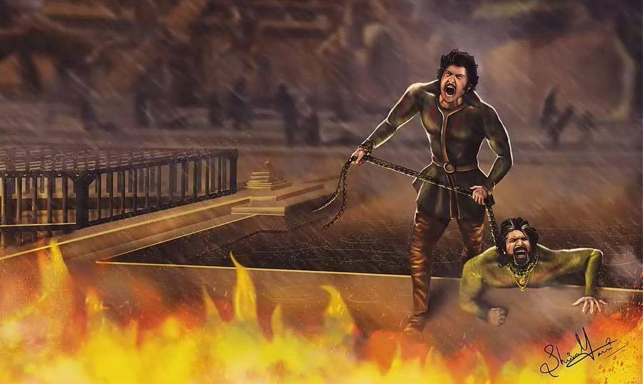 An Imaginary Fans Artworks of Baahubali Movie