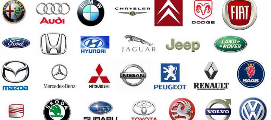 Can you identify these cars with their logos?