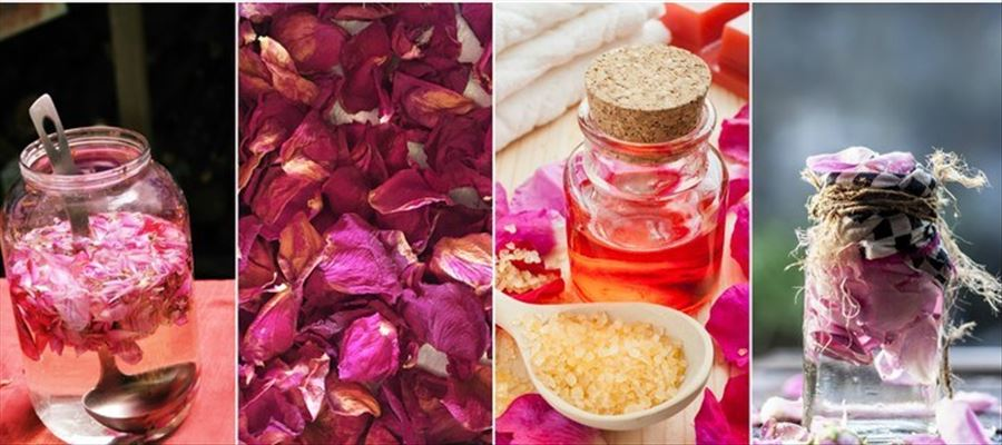 Beauty tips with Rose Petals Powder in your face