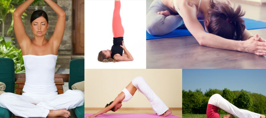 Some beautiful yoga poses for glowing skin