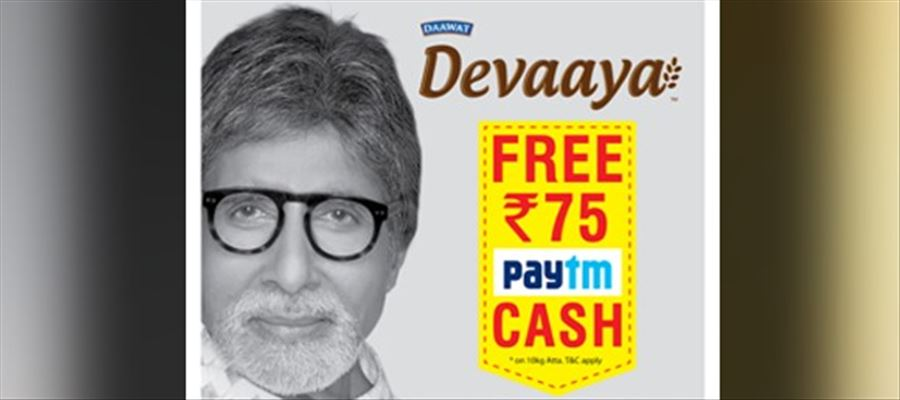Daily Staples from Daawat Devaaya Now Offer up to Rs. 75 Paytm Cash