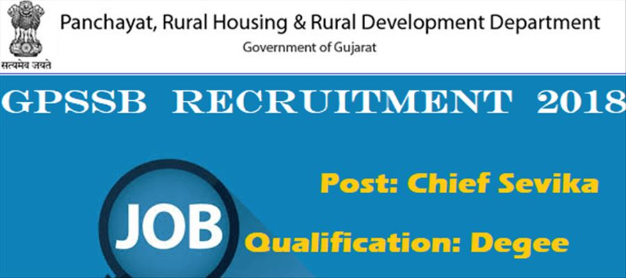 Apply for 275 Chief Sevikas at GPSSB
