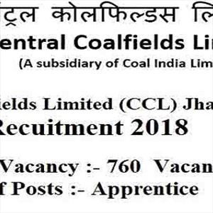 760 Apprentices post vacant in CCL