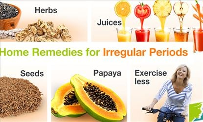 Homemade remedies for treating irregular periods to a regular one