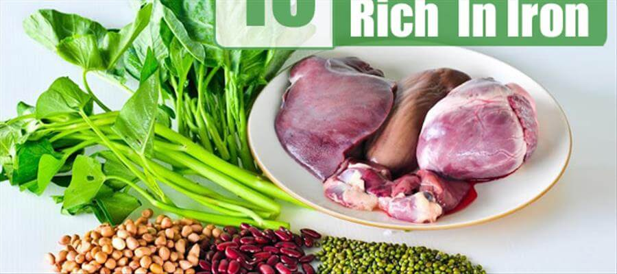 Foods which are rich in Iron content