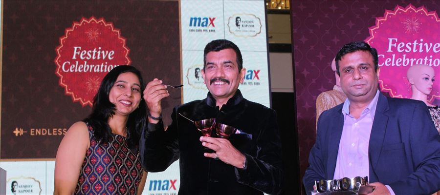 Max Fashion Launches  Festive Collection  with Padma Shri Chef Sanjeev Kapoor and his Wife Alyona Kapoor
