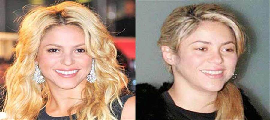 10 celebrity ladies who look terrible without makeup