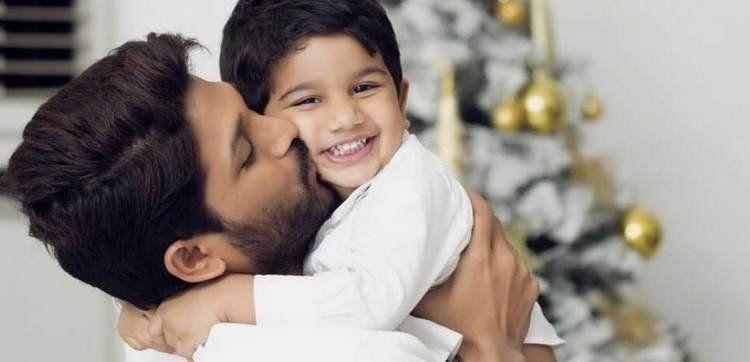 Actor Allu Arjun with his kids Unseen Pictures