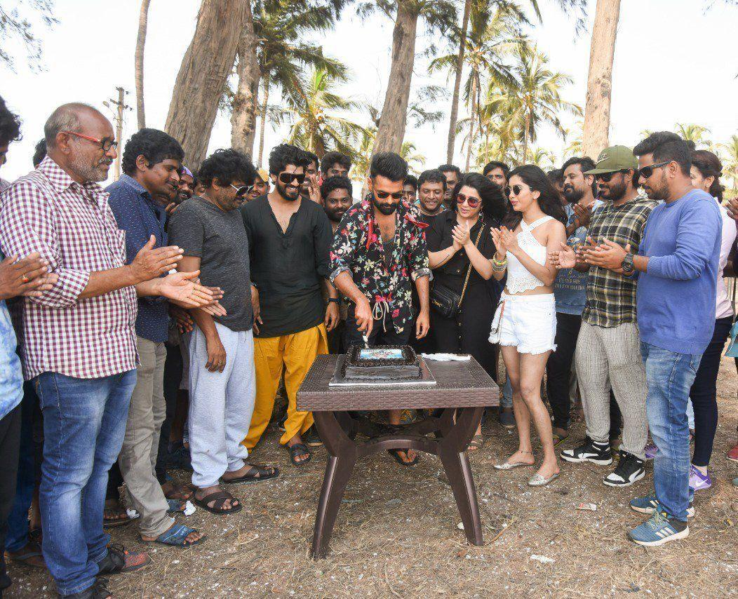 Actor Ram Birthday Celebrations Stills From ISmart Shankar Shoot In Goa