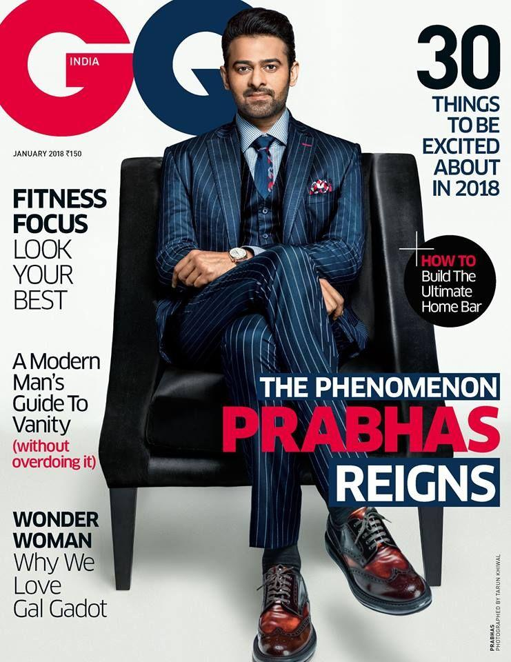 Check out the new stills of our darling Prabhas from GQ Magazine & GQ India