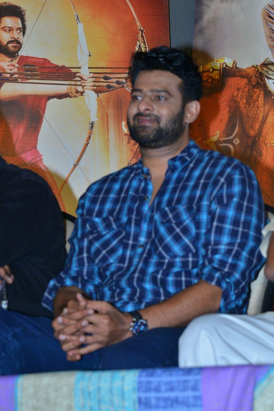 Prabhas Stills at Baahubali 2 Movie Trailer Launch