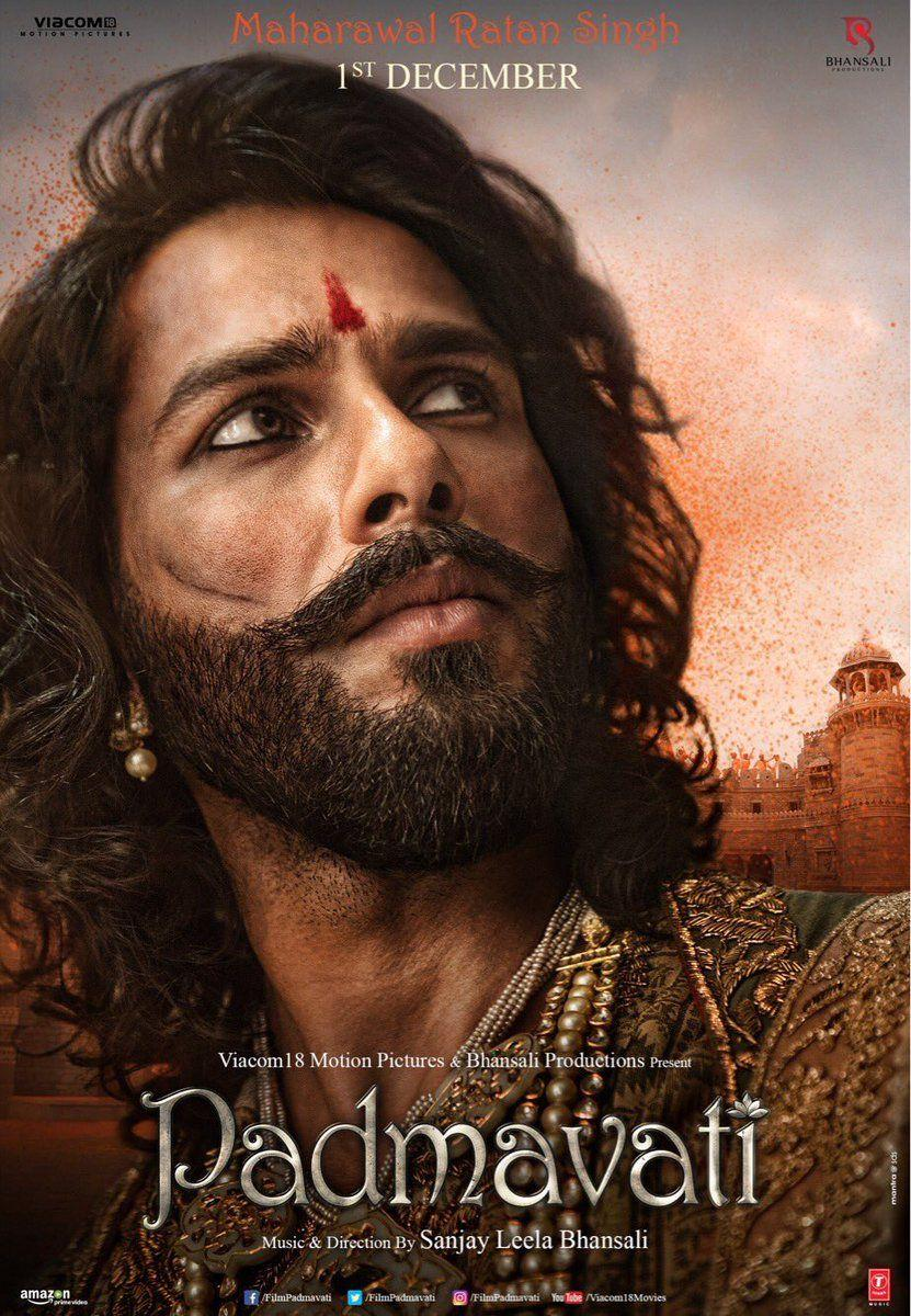 Shahid Kapoor as MahaRawalRatanSingh for Padmavati Posters is out!