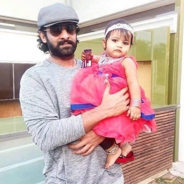 Prabhas With Cute Baby Pic