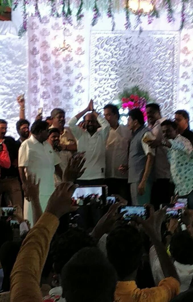 Rajini Kanth At MLA Captain Tamil Selvan Son Wedding