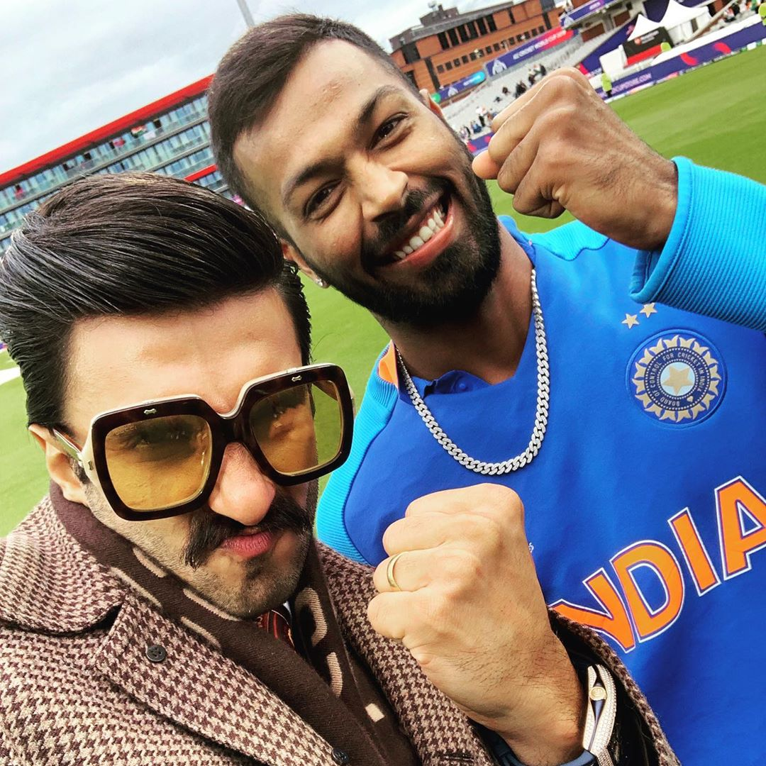 Ranveer Singh With Current Generation Cricket Player At ICC World Cup