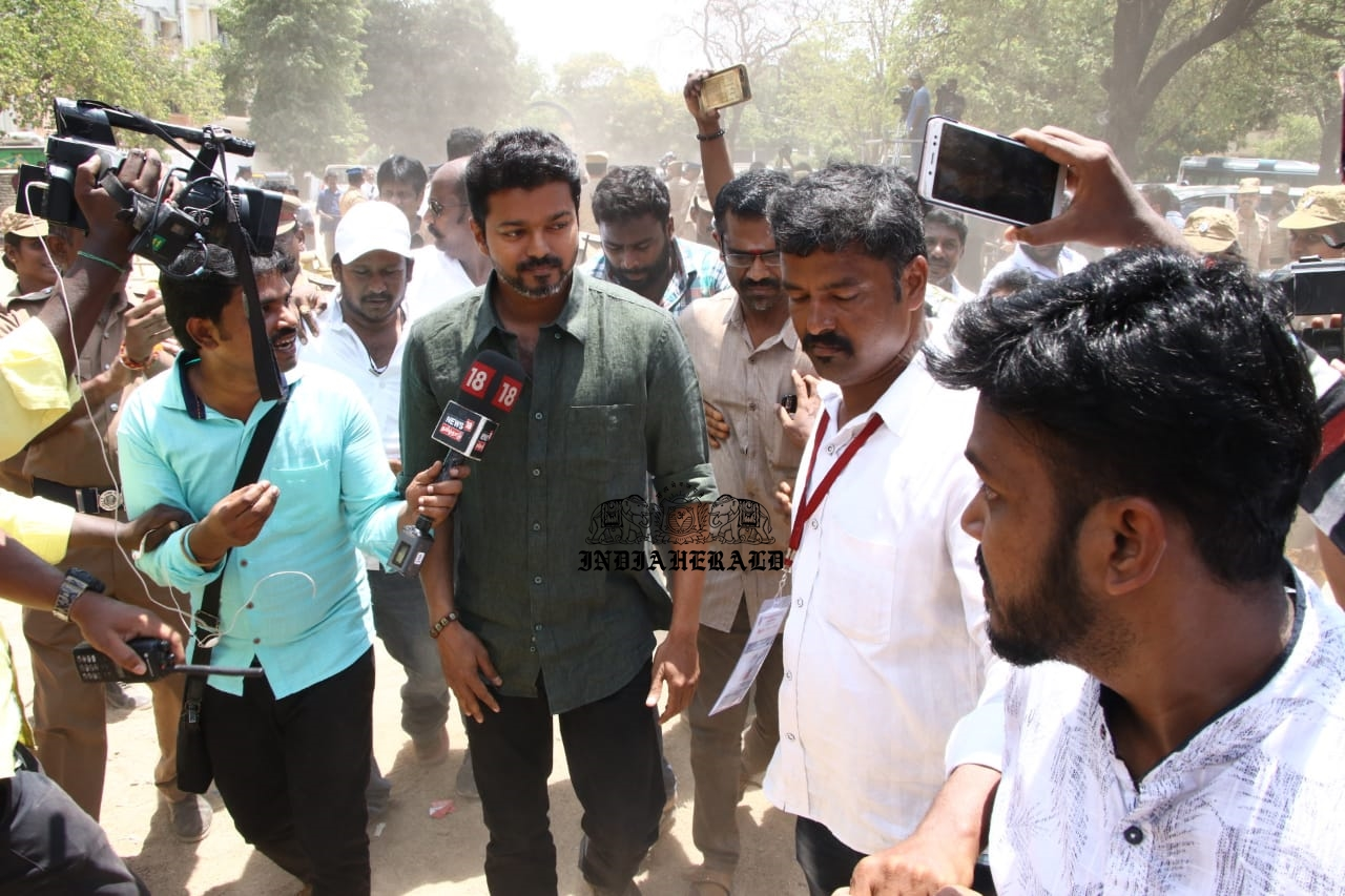Thalapathy Vijay Exclusive HD Pictures From SIAA Election