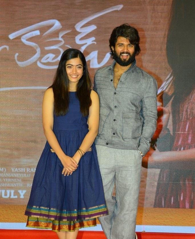 Vijay Deverakonda And Rashmika Mandanna at Dear Comrade Trailer Lauch