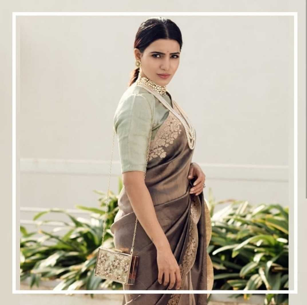 Actress Samantha Saree PhotoPics