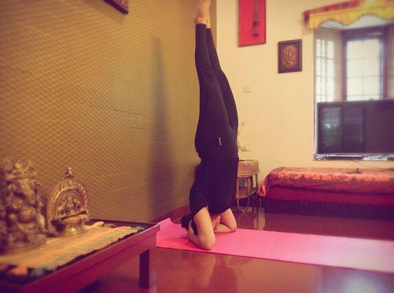 Actress Samyuktha Varma Yoga Practicing Photos