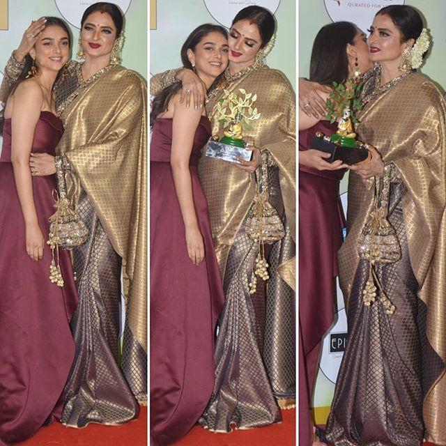 Adithi and Rekha at event