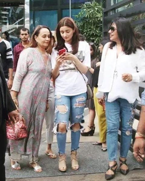 Alia Bhatt spotted outside her residence with security guards