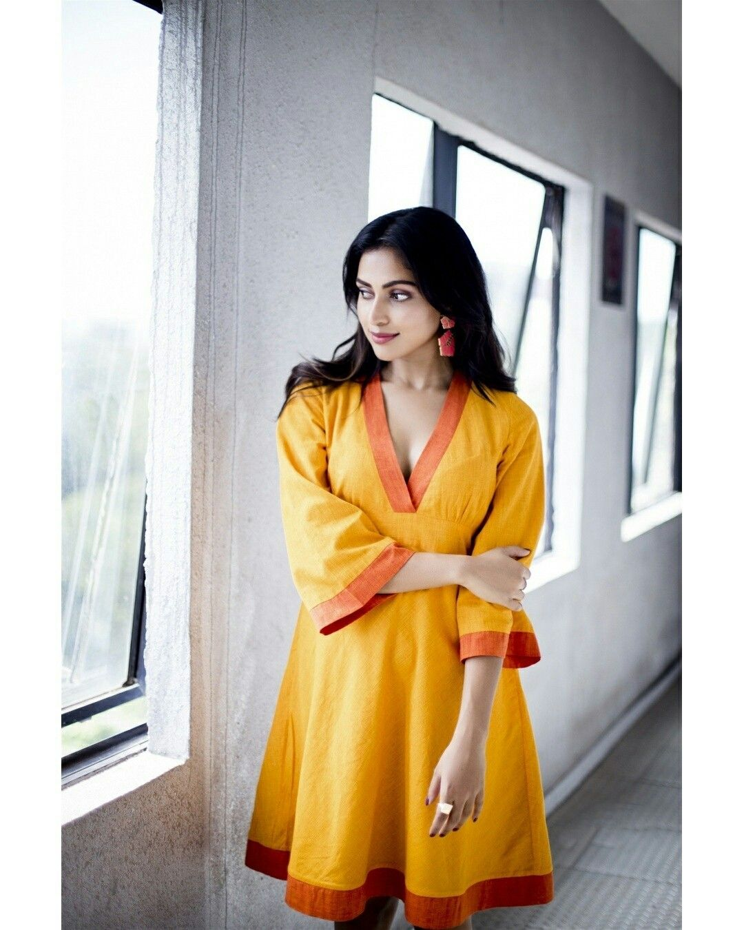 Amala Paul in Yellow Photoshoot