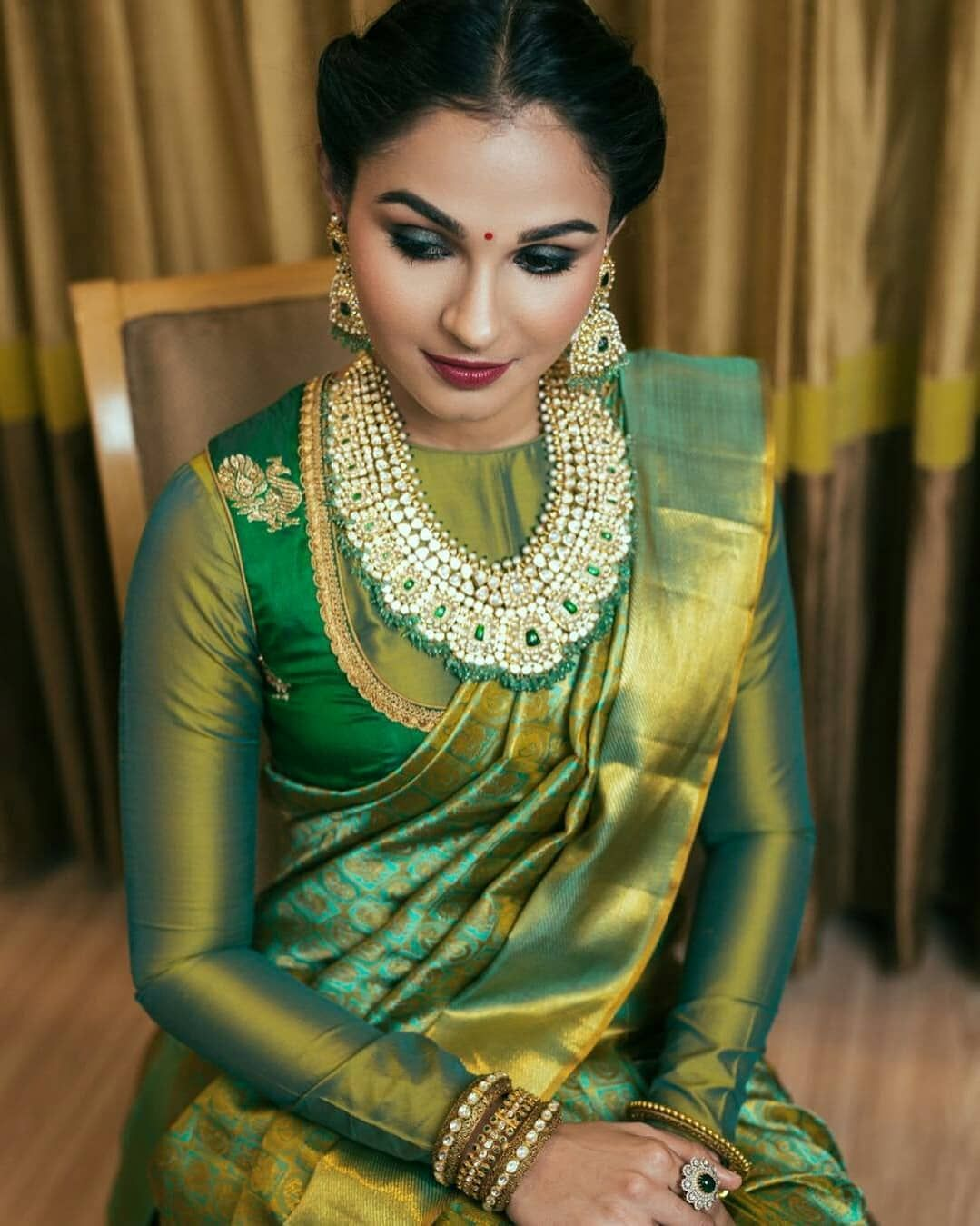 Andrea in Traditional Saree Shoot