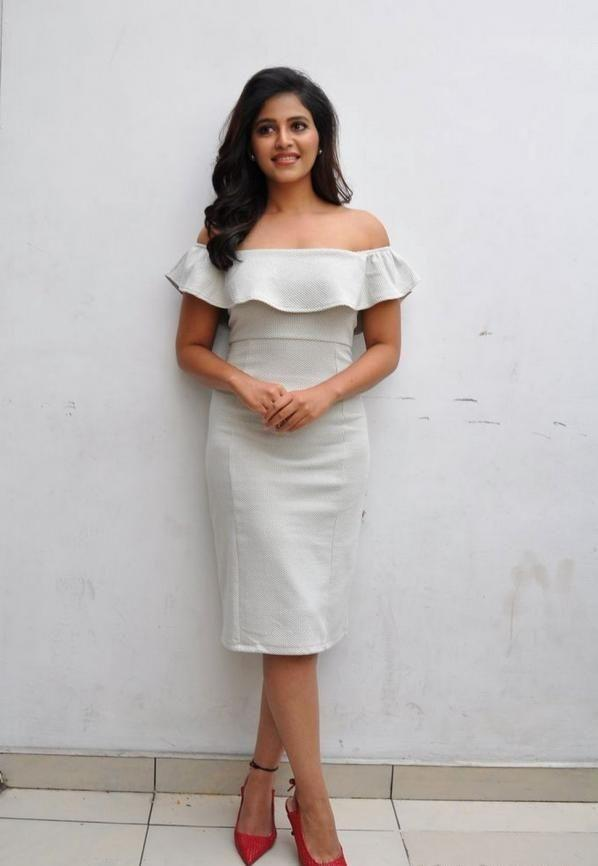 Anjali at the promotions of her upcoming horror movie Lisaa 3D
