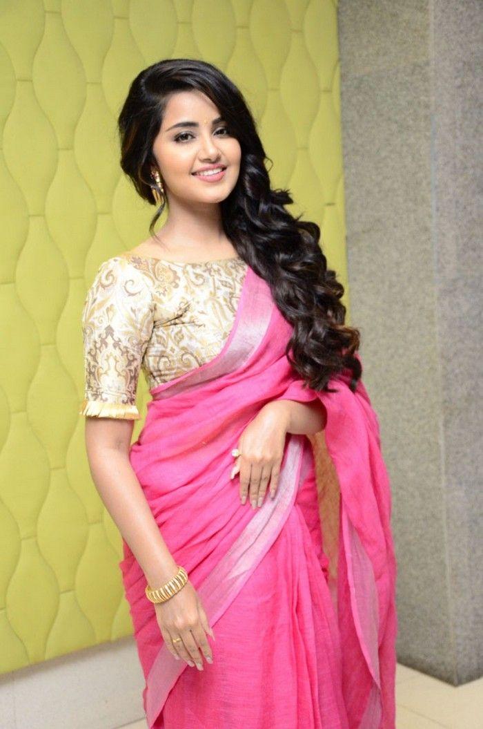 Anupama Parameswaran Latest Pink Saree Photo Stills