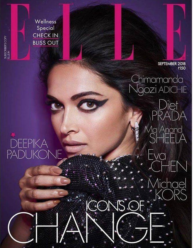 Deepika Padukone poses for ELLE Photoshoot Stills