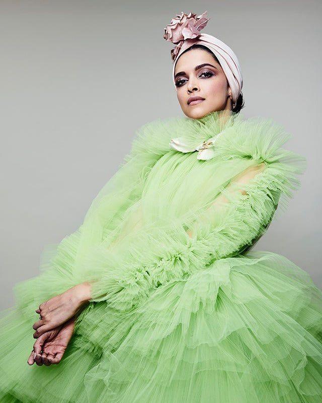 Deepika padukone Green Weird Outfit at Cannes
