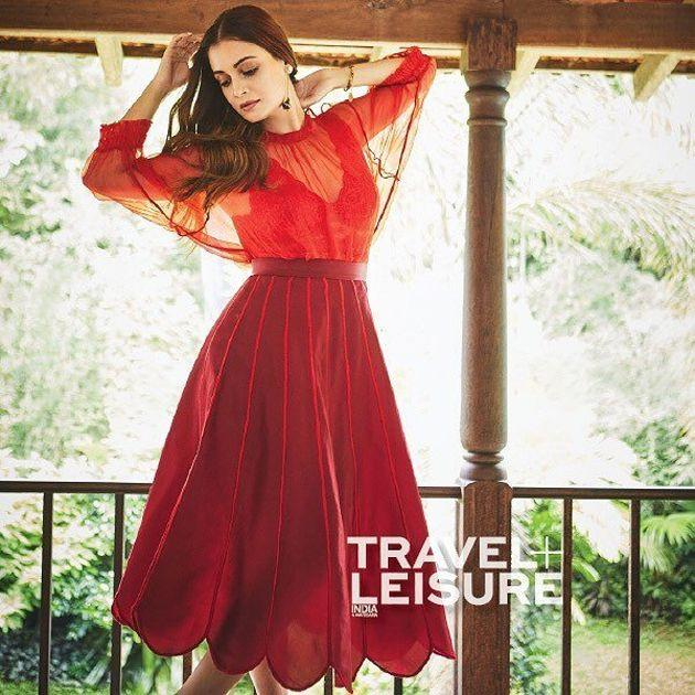 Dia Mirza Poses For Travel Leisure Photos