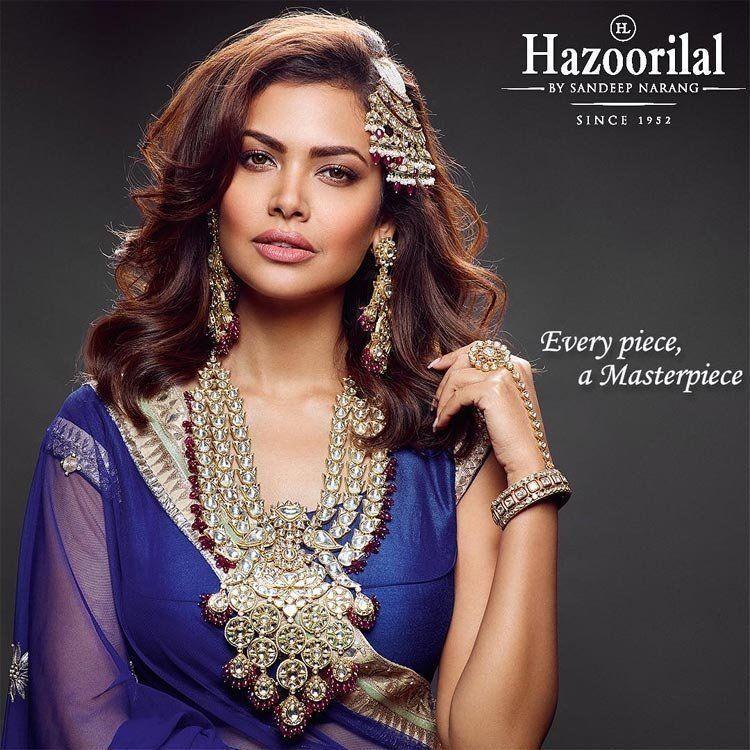 Esha Gupta poses for Hazoorilal Jewellers