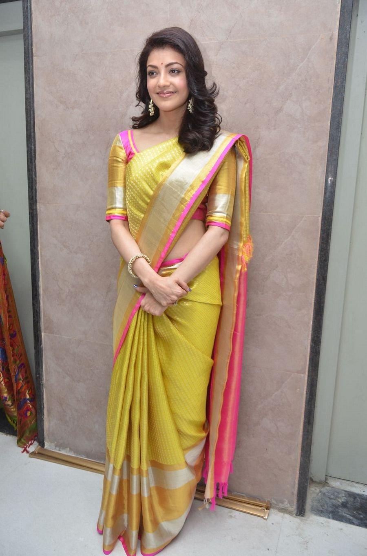 kajal agarwal latest saree pictures