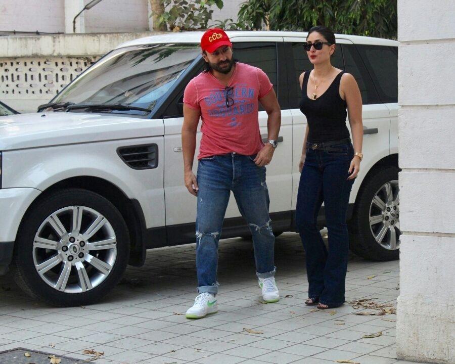 Kareena Kapoor spotted with Husband Saif Ali Khan in Mumbai