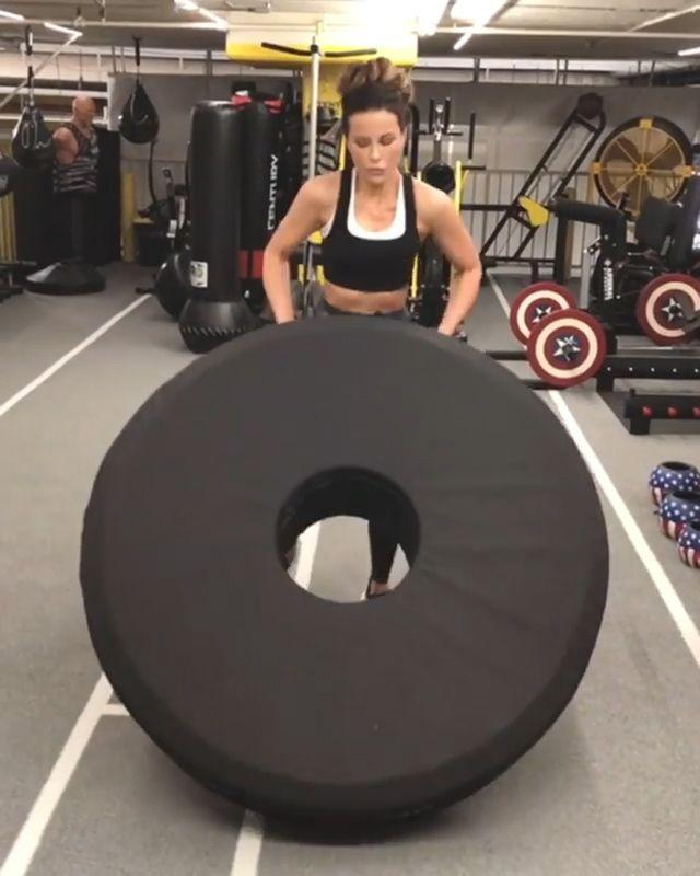 Kate Beckinsale at the Gym