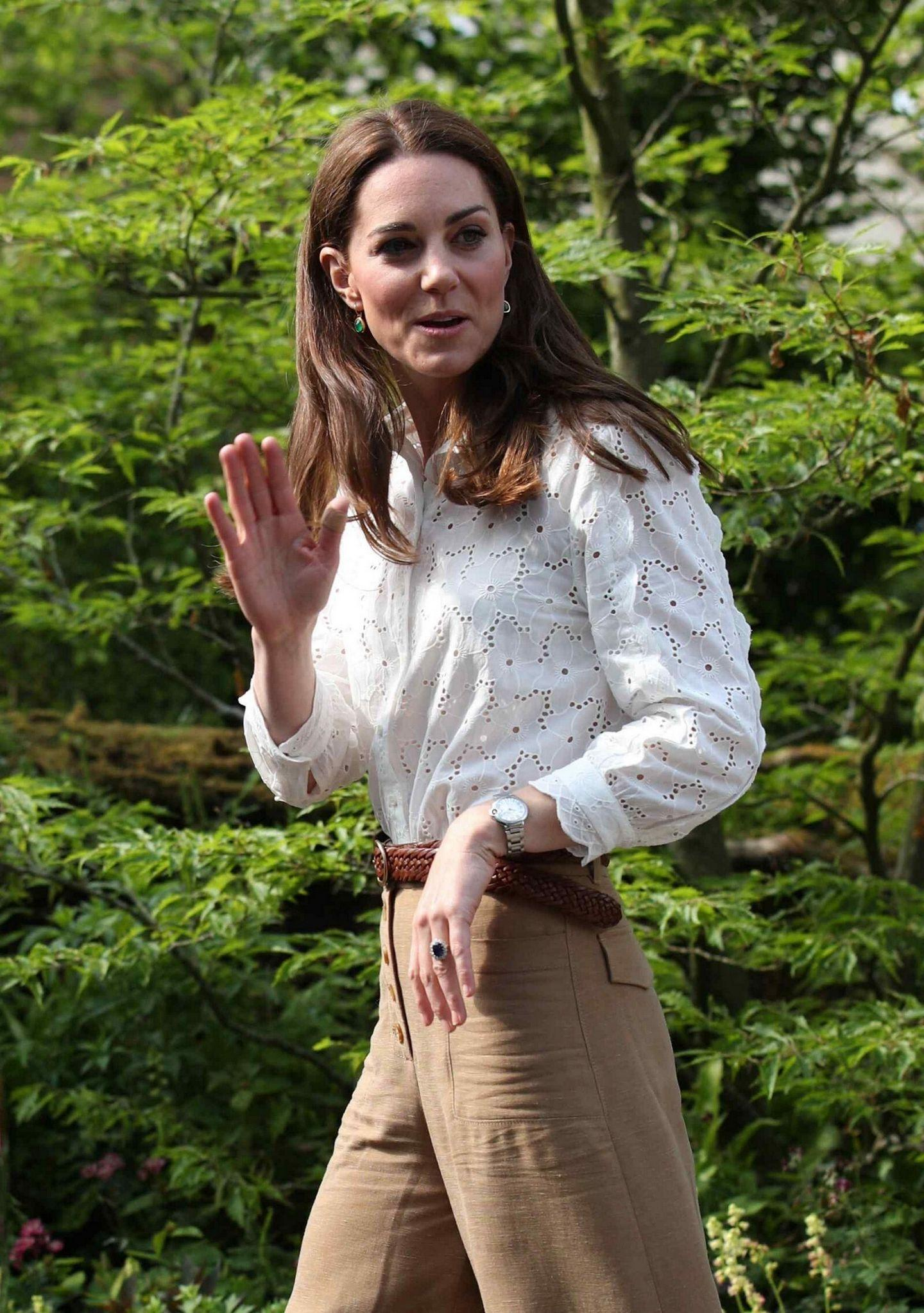 Kate Middleton at Royal Hospital Chelsea Flower Show in London
