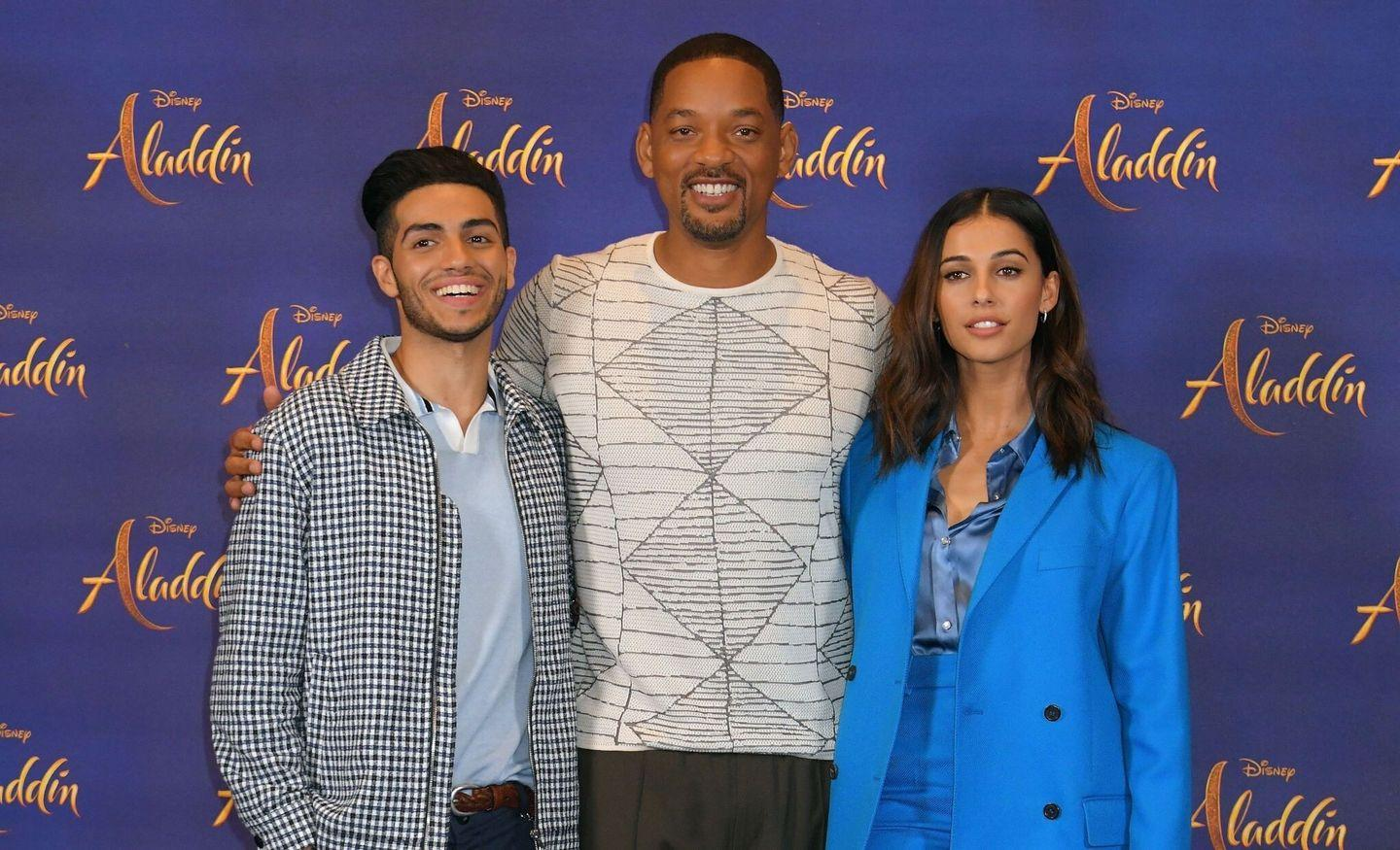 Naomi Scott from Aladdin Press conference in London