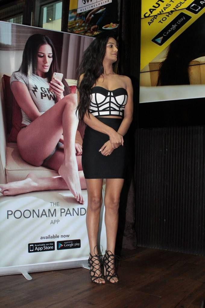 Poonam Pandey Hot Stills At Her Own App Launch