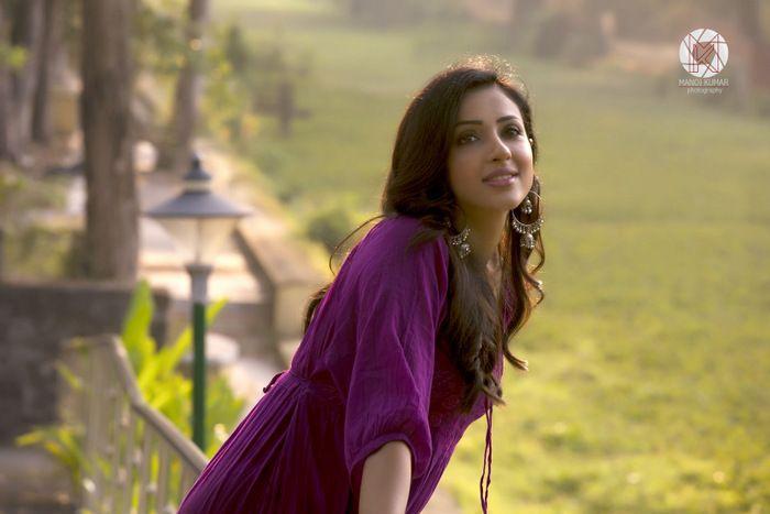Priya Shri Magenta Colour Dress Photo Shoot Stills