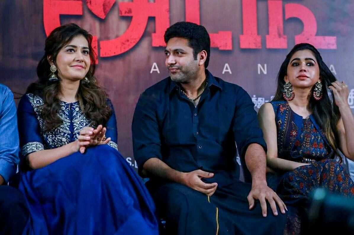 Raashi Khanna at Adangamaru Success Meet Photos