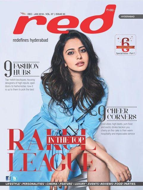 Rakul Preet Singh Red Magazine Photoshoot Stills
