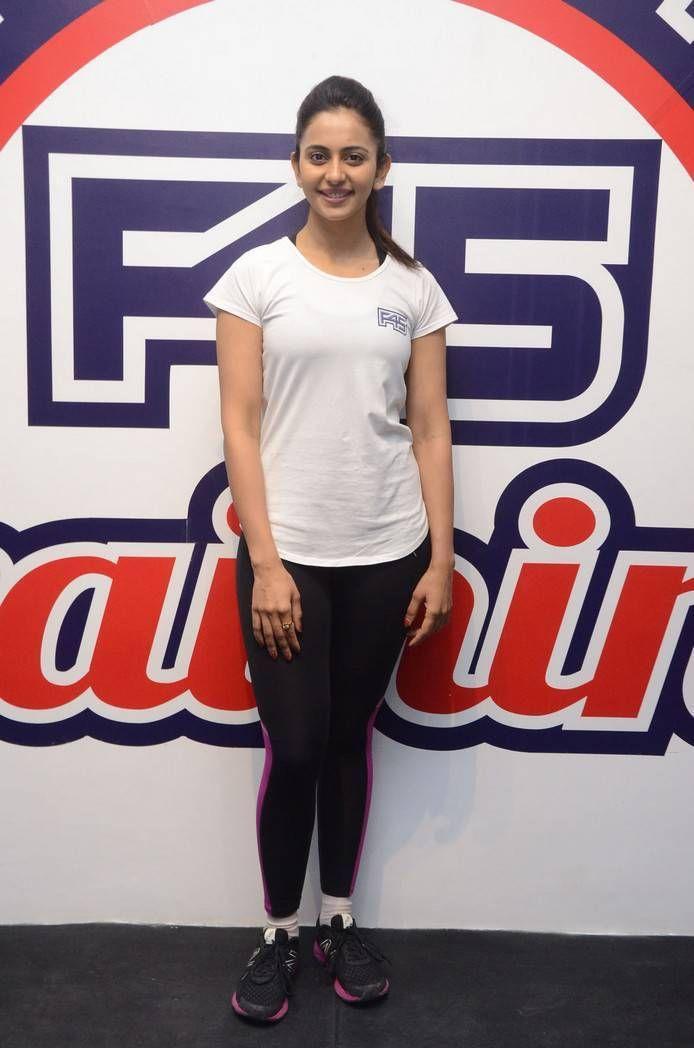 Rakul Preet Singh Stills At F45 Gym Launch At Kokapet
