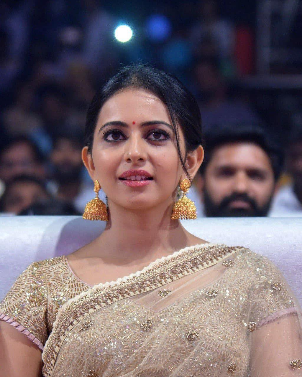 Rakul Preet spotted in Traditional attire at an event in Chennai