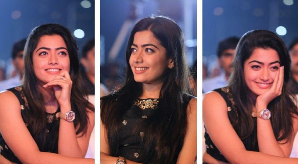Rashmika Mandanna Photos At Chalo Movie Success Meet