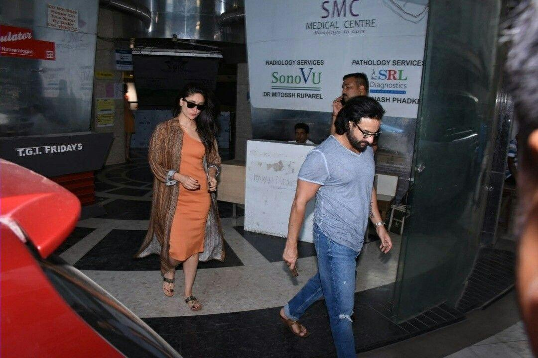 Saif, Kareena spotted at Bandra Clinic