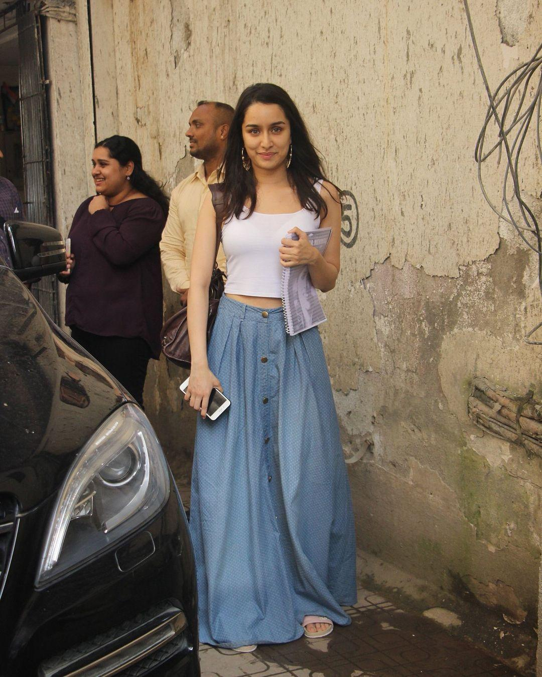Shraddha Kapoor spotted outside her residence in Mumbai