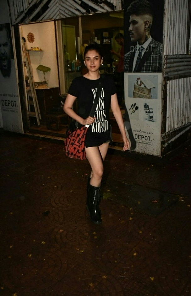 Aditi Rao In A Sexy Shorts Outside A Cafe In Mumbai