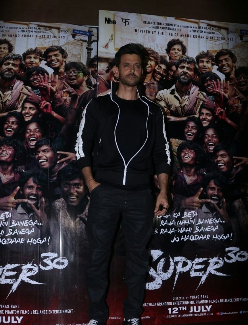 Cast Of Super 30 Promoting The Movie