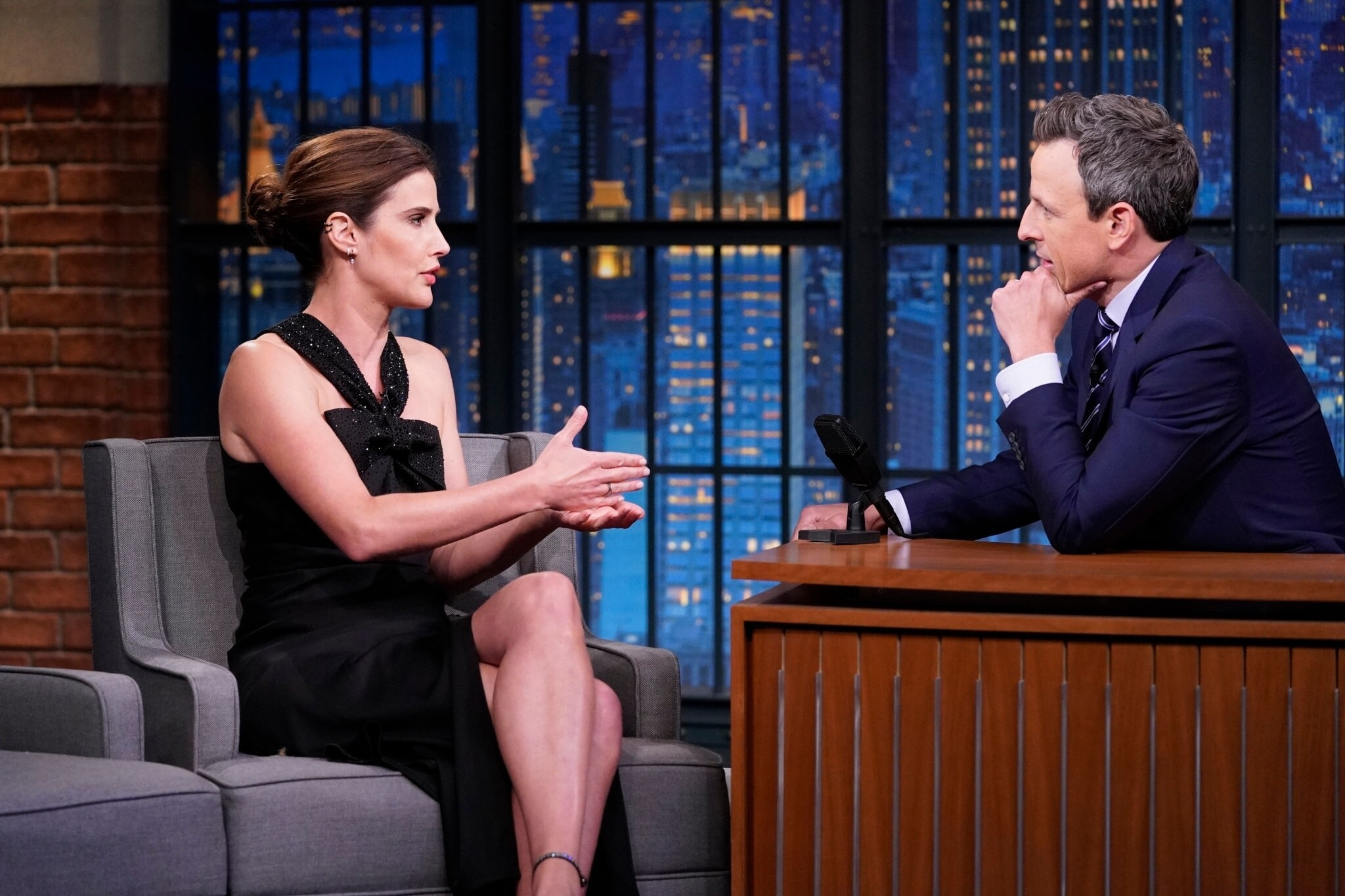 Cobie Smulders At Late Night With Seth Meyers